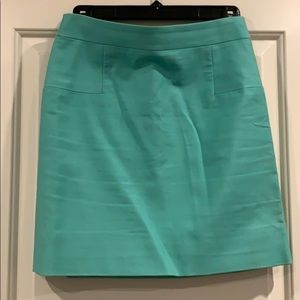 J. Crew Lined Turquoise Work Skirt